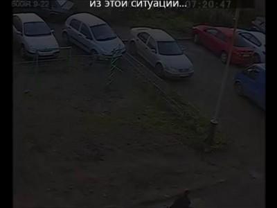 Выезд с парковки (девушка)