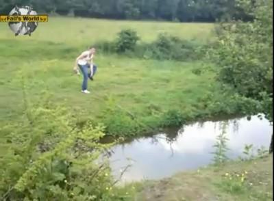 Прыжок через канаву