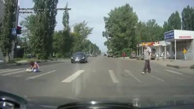 Автохам и пешеходохамка