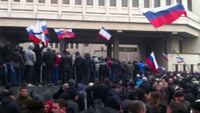 Митинг в Симферополе 26 февраля 2014 г