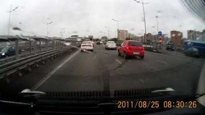 Резкий поворот направо