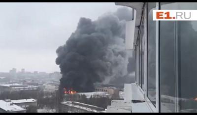 Пожар на шинном заводе