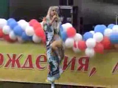 Певица Натали упала на Дне города Котельники