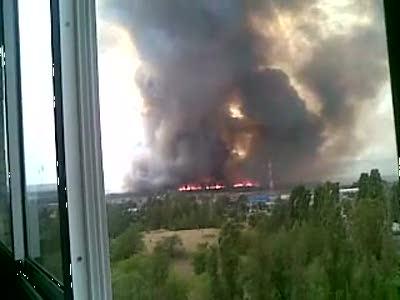 Лесной пожар в Воронеже
