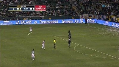 LA Galaxy vs Sporting KC 4-1 GOAL David Beckham