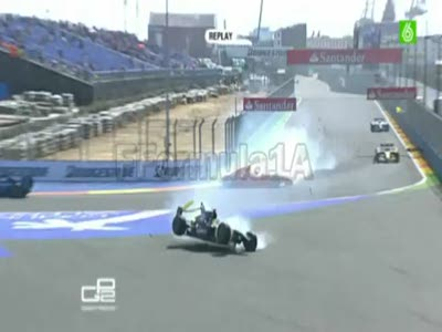 Accidente en la GP2 Europa 2010!!!