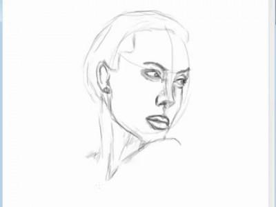 Анжелина Джоли нарисованная в фотошопе