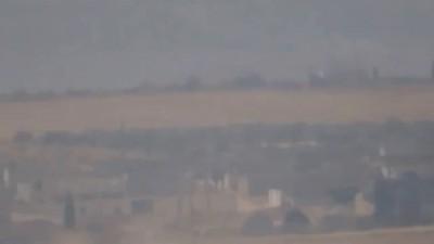 Сирия. Подрыв смертника террористов ДАИШ на заминированном авто на позициях террористов ССА. Ноябрь