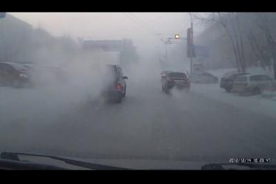 Морозная дымка В Новосибирске