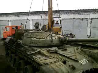 Демонтаж башни Т-72