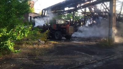 Пожар шахта
