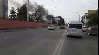маршрутка 205 горит