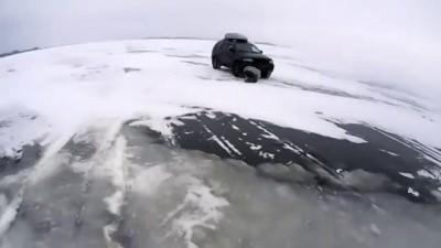 Утопили джип