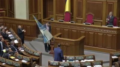 Кличко установил флаг ВМС Украины