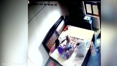 Shocking CCTV! Mother allegedly beats infant son in Bareilly