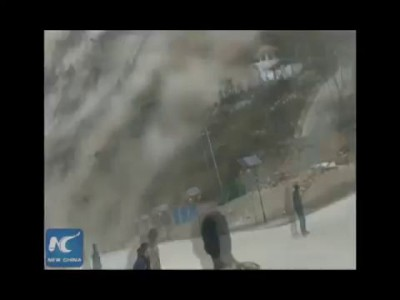 RAW: Terrifying moment Nepal earthquake struck: Gyirong County in Tibet