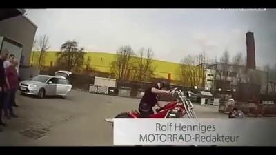 """ Красный барон "" - мотоцикл с двигателем от самолёта ."