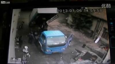 Несчастный случай при ремонте грузовика