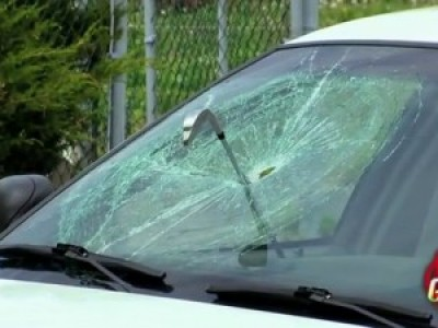 Не паркуйтесь у гольф-клуба! (Golf Club Through Police Windshield Prank)