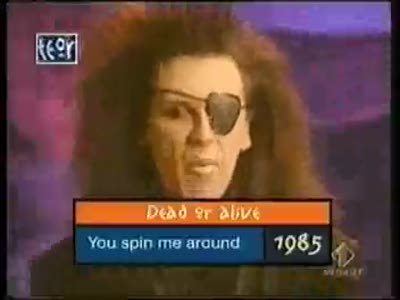 "PETE BURNS & DEAD OR ALIVE ""YOU SPIN ME ROUND"" live"