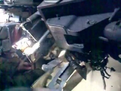 БМП-2 внутри во время стрельбы