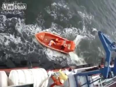 FAIL Спуск лодки на воду