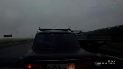М5, Уфа, мокрый асфальт, ДТП