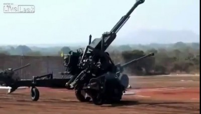 Don't laugh. This is the Bofors Gun!