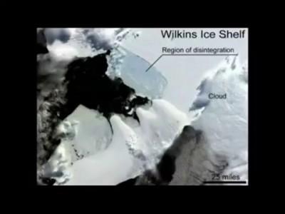 ! Антарктида...РЕЗАНЫЙ неизвестно чем и кем ЛЕДЯНОЙ ШЕЛЬФ !