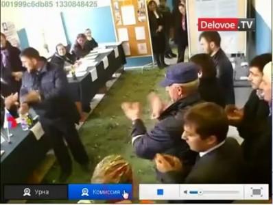 Президент Чечни Кадыров станцевал во время выборов