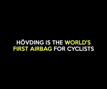 This is the worlds first airbag for cyclists!