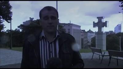 Молния попала в репортёра
