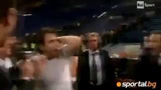 Ибрагимович бьет Кассано ногой в голову!!!
