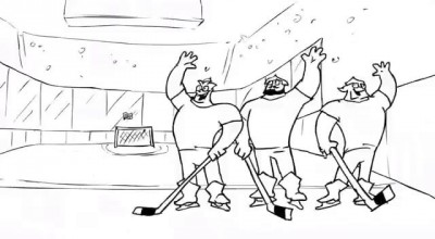 Три богатыря и Хоккей/Three Russian Bogaturs & HOCKEY (animation)