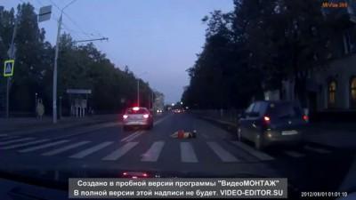 Авария с пешеходом в Брянске 07 09 2016