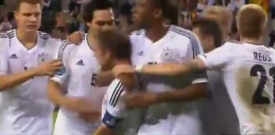 Germany vs Greece Goal Lahm 22-06-2012