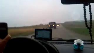 В Мариуполь с строны Куйбышева по запорожской трассе движется автоколона из 50едениц