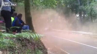 Авария авто-ралли в Испании.