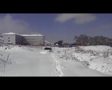 Субару чистит снег