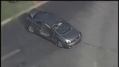 Stolen Hybrid Car Taken Out By Multiple Cops