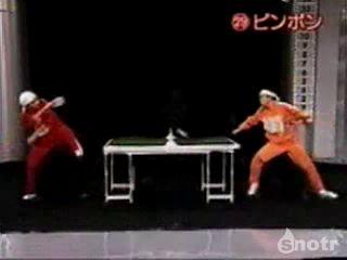 Японское шоу теннис
