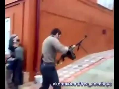 Чеченец с пулеметом [Chechen]