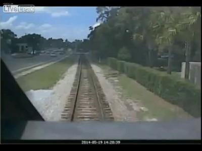 избежала встречи с трамваем