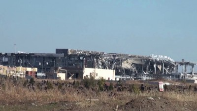 Донецкий аэропорт 13.10.2014 обстрел