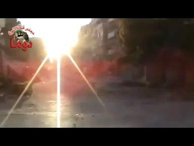 Сирия, взрыв в переулке