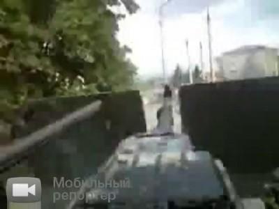 Мирный осетинский город и грузинские фашисты-оккупанты (быдло)