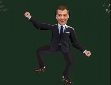 Медведев под American Boy