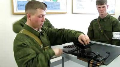 Заряжение пулеметной ленты