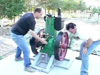 put-put old diesel engine