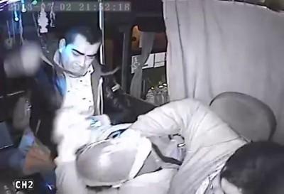 Попытка ограбления водителя автобуса в Чили .